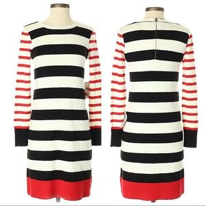 Eliza J Striped Fitted Long Sleeve Dress